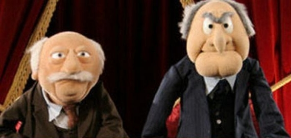 Muppets Statler and Waldorf are typical American curmudgeons