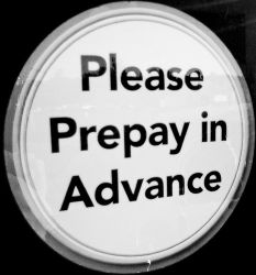 prepay in advance