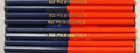 red blue pencils 5 rings