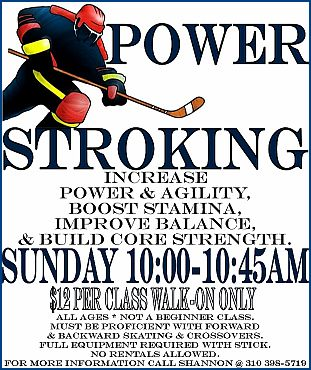 power stroking flyer culver city ice rink