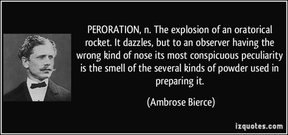 peroration ambrose bierce