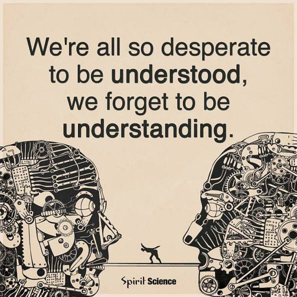 forget to be understanding