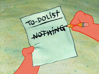 todo list nothing